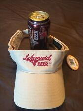 VINTAGE LAKEMAID  SCHELL'S & RAPALA   BEER Visor Hat Cap NEW