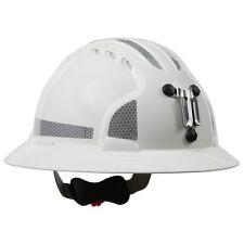 JSP Mining Hard Hat Full Brim White with 6 Point Ratchet Suspension