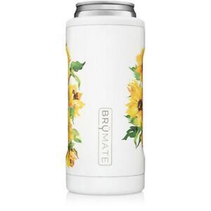 NEW Brumate Hopsulator Slim Can Cooler Tumbler 12 oz Drink Holder Sunflower