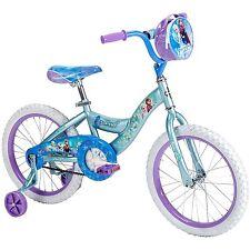 "18"" Huffy Disney Frozen Girls Bike Bicycle w Training Wheels Kids Blue"