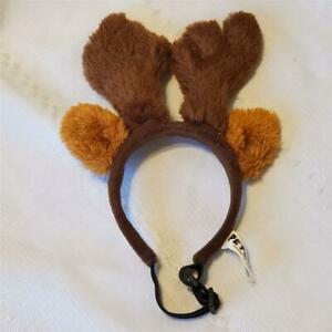 DOG REINDEER EARS Christmas Spirit Small Dogs Cats PETCO Antlers Adjustable Soft
