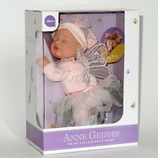 """Anne GEDDES BAMBOLA 'Bean riempito """"Raccolta Nuovo in Confezione Regalo Baby Fairy Bambola 9"""""""