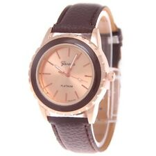 Ladies Wrist Watches S Steel Leather Quartz Analogue Women Casual Gift Uk Brown