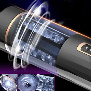 Automatic Telescopic Rotation Male Masturbator Vacuum Bluetooth Sucking Cup Man