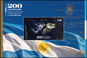 MALVINAS ISLANDS/STAMPS,ARGENTINA 2020- FIRST RAISING OF THE NATIONAL FLAG-MNH