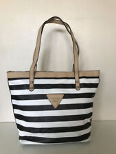 NEW! GUESS MARCIANO ZOOM BLACK WHITE SHOPPER SATCHEL TOTE BAG PURSE $88 SALE