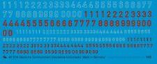 Peddinghaus 1/48 3224 Tedesco Numeri Torretta Blu/bianco- Rosso/nero