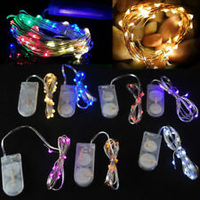 10/30 Led Battery Power Operated Copper Wire Mini Fairy Lights String Xmas Decor