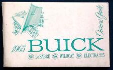 Owner's Manual * Betriebsanleitung 1965 Buick LeSabre Wildcat Electra 225 (USA)