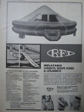 12/1966 PUB RFD GQ AIRLINES LIFERAFTS ESCAPE SLIDES LIFEJACKETS SAR RESCUE AD