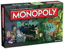 New Monopoly Rick and Morty Edition Adult Swim TV Series USAopoly Board Game