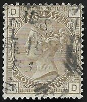1882 QV SG160 4d Grey-Brown TD Plate 18 Good Used CV £75+