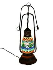 Night Lamp of Glass With Indian Beautiful Mosaic Work Designer Table Lamp