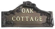 Acabado bronce Woodland casa de diseño de casa de placa de nombre signo