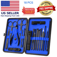 Pedicure / Manicure Set Nail Clippers Cleaner Cuticle Grooming Kit Mens Womens