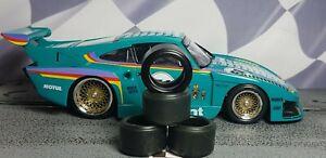 1/32 URETHANE SLOT CAR TIRES 2pr PGT-21138XLM fit all CARRERA Porsche 935 K3