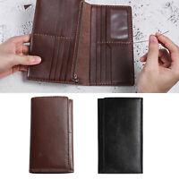 Diy leder 15 taschen bifold brieftasche geldbörse kit reiß verschluss karten