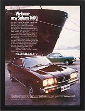 "1976 SUBARU 1600 SEDAN & HARDTOP A3 FRAMED PHOTOGRAPHIC PRINT 15.7""x11.8"""