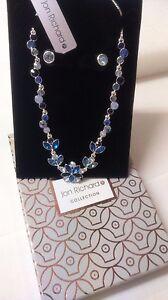 Jon Richard Blue Tonal Crystal Necklace & Earring Set