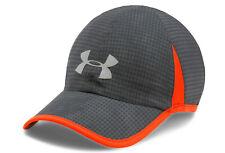 NEW Under Armour Mens Shadow 4.0 Heatgear Running Cap-Dark Grey/Orange OSFA