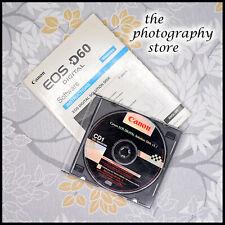 Canon EOS Software Solution Disk V3.1 AND Instruction Book for D60 Digital SLR