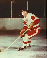 gordie howe 8x10 photo color action hockey detroit red wings nhl picture