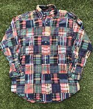Ralph Lauren Button Front Shirt Patchwork Men's M Vintage Blake
