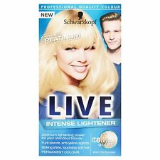 3 boxes of Schwarzkopf LIVE Intense Lightener 00A Absolute Platinum