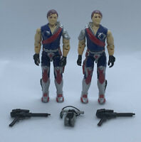 "G.I. Joe Tomax & Xamot Cobra Crimson Guard Twins Complete  3.75"" Figure 1985"