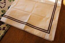 Restoration Hardware Italian Hotel Satin Stitch Sham, Euro, Chocolate