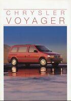 Chrysler Voyager Prospekt 10/94 1994 1995 Autoprospekt Broschüre Auto brochure