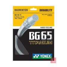 Yonex BG65Ti (Titanium) Badminton String 10m Set - White