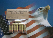 9mm Luger Snap Caps Set of 10 Tactical - Dummy - Practice - Training Rounds.