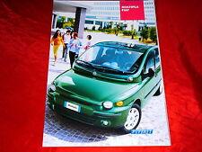 FIAT Multipla 1.6 16V 1.9 JTD Bipower SX ELX Prospekt + Preisliste von 2003