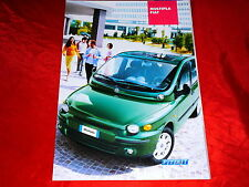 FIAT MULTIPLA 1.6 16v 1.9 JTD Bipower SX ELX prospetto + listino prezzi di 2003