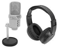 Samson G-Track Studio Recording Podcast USB Microphone w/ Interface+Headphones
