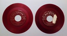 Two 45 RPM Mario Lanza / Jan Peerce RCA Victor Red Seal Records