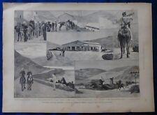 INCISIONE 1880 - GRANDI MANOVRE A COLFIORITO DI FOLIGNO - PERUGIA