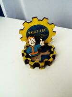 FALLOUT 76 VAULT-TEC gift crafted BOX BOBBLEHEAD badge Pip Boy