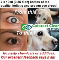 Cataract eye drops 4.2% NAC. Superb & proven on people & dogs! 2 x 10 ml bottles