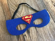 Superman Blue Superhero Kids Masks Halloween Costume Birthday Party Kids Unisex