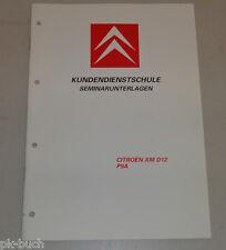 Schulungsunterlage Kundendienstschule Citroen XM D12 Diesel Motor Saugmotor P9A