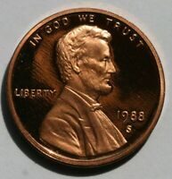 1988 S Lincoln Memorial Cent Gem DCAM Proof Penny US Coin