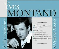 Yves Montand - 6 Original Albums (2016)  3CD Collection  NEW/SEALED  SPEEDYPOST