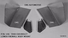 Chevrolet Chevy Car Lower Firewall Body Support Bracket Kit 1940 #546 EMS