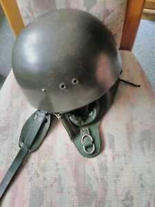 NVA Fallschirmjägerhelm Original geb. Fallschirmjäger Stahlhelm Sprunghelm DDR