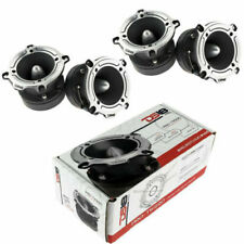 "TW220 Super Loud Tweeter Silver  Compression 1"" Bullet 700W (4) DS18 PRO-TW210"