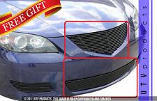 GTG 2004 - 2006 Mazda 3 2PC Gloss Black Billet Grille Grill Kit