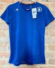 ADIDAS Womens Climalite Boston Marathon S/S Tee/T-Shirt SIze S Royal Blue/Terume
