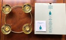 PartyLite Gold Color Brass Candle Holder 4 Tapers Round Circle P7366 Century